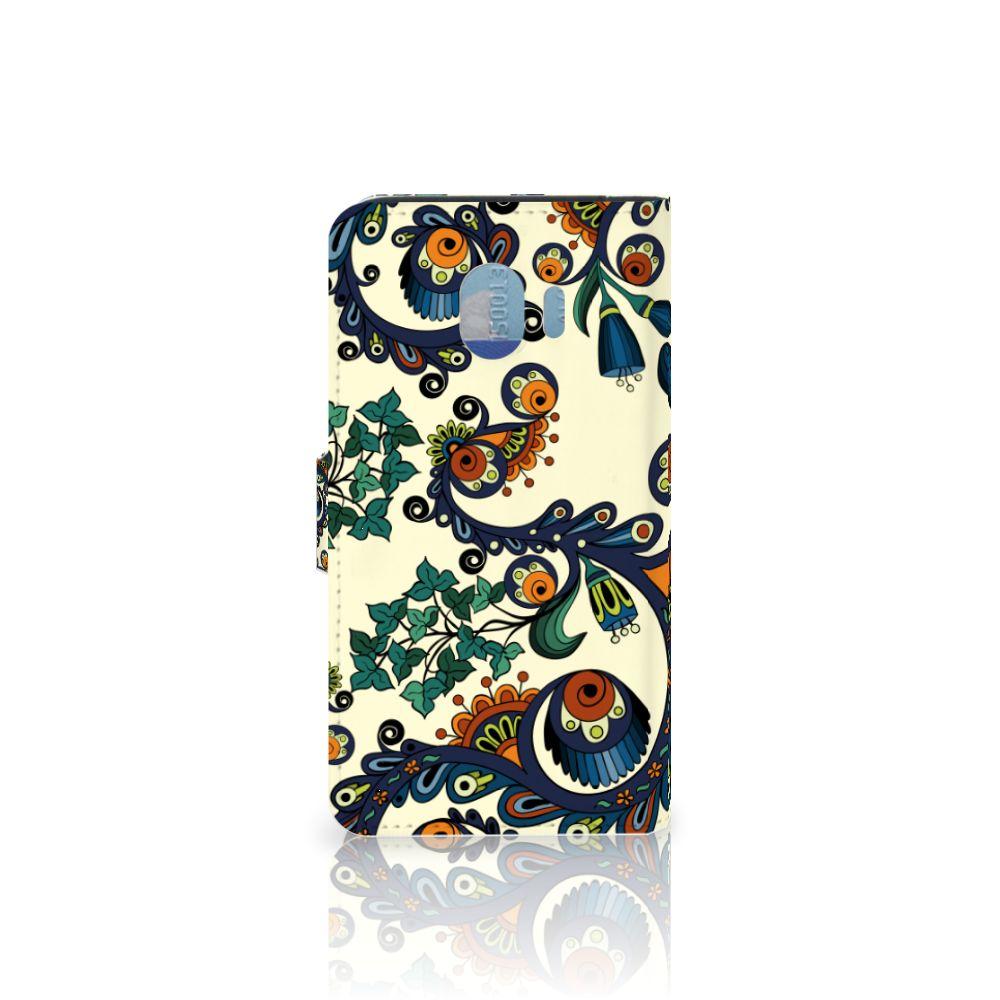 Wallet Case Samsung Galaxy J4 2018 Barok Flower