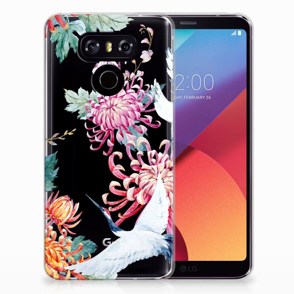 LG G6 TPU Hoesje Bird Flowers