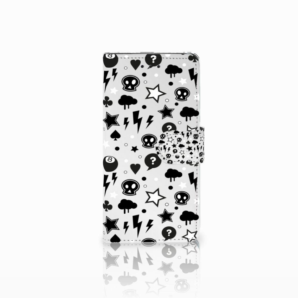 Huawei Y5 2018 Uniek Boekhoesje Silver Punk