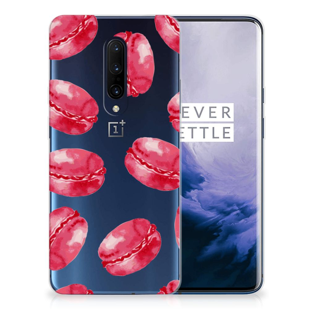OnePlus 7 Pro Siliconen Case Pink Macarons