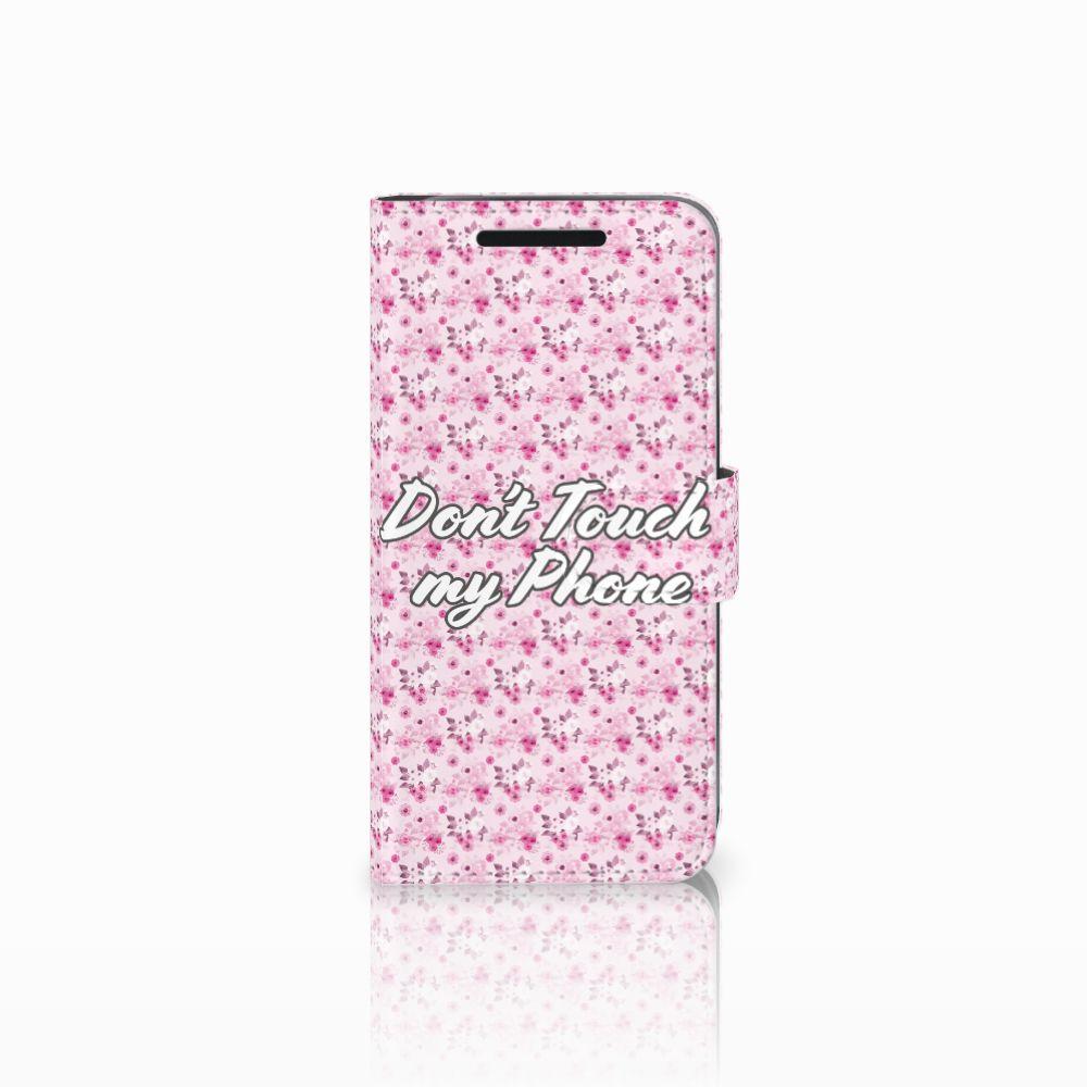 HTC One M9 Uniek Boekhoesje Flowers Pink DTMP