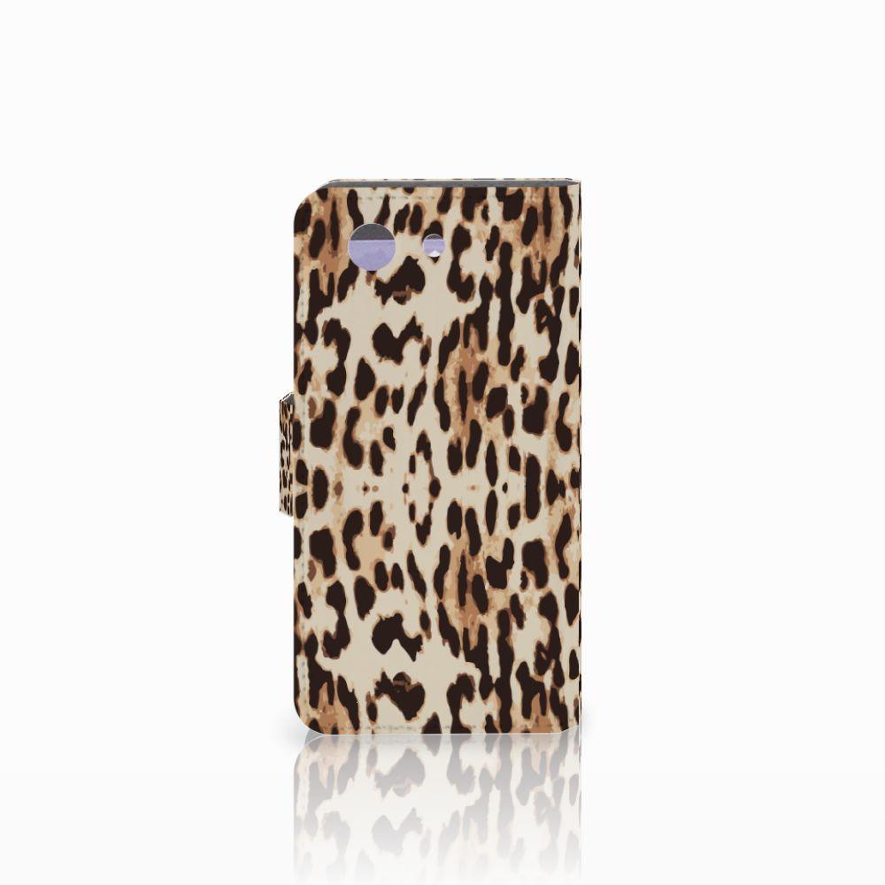 Sony Xperia Z3 Compact Telefoonhoesje met Pasjes Leopard