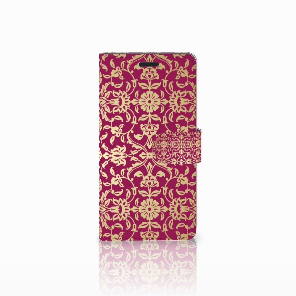 Samsung Galaxy A7 2015 Boekhoesje Design Barok Pink