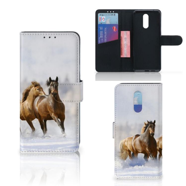 Nokia 3.2 Telefoonhoesje met Pasjes Paarden