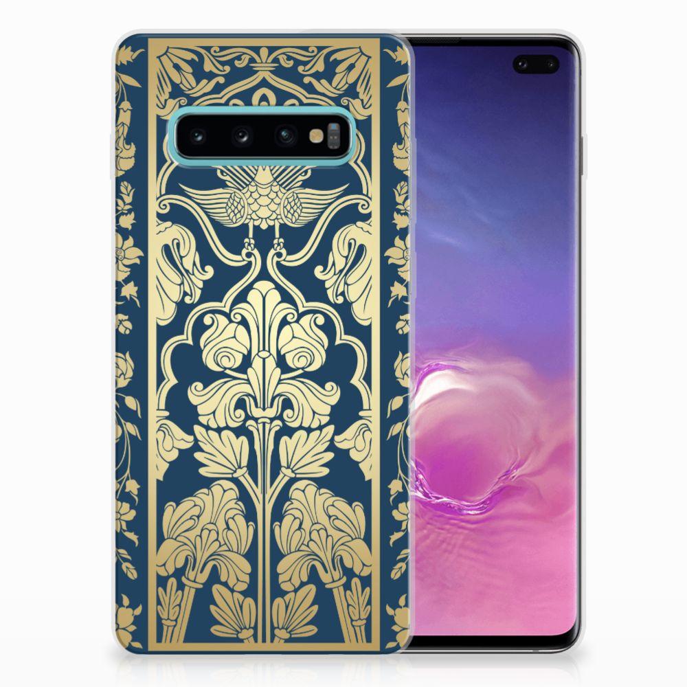 Samsung Galaxy S10 Plus Uniek TPU Hoesje Golden Flowers