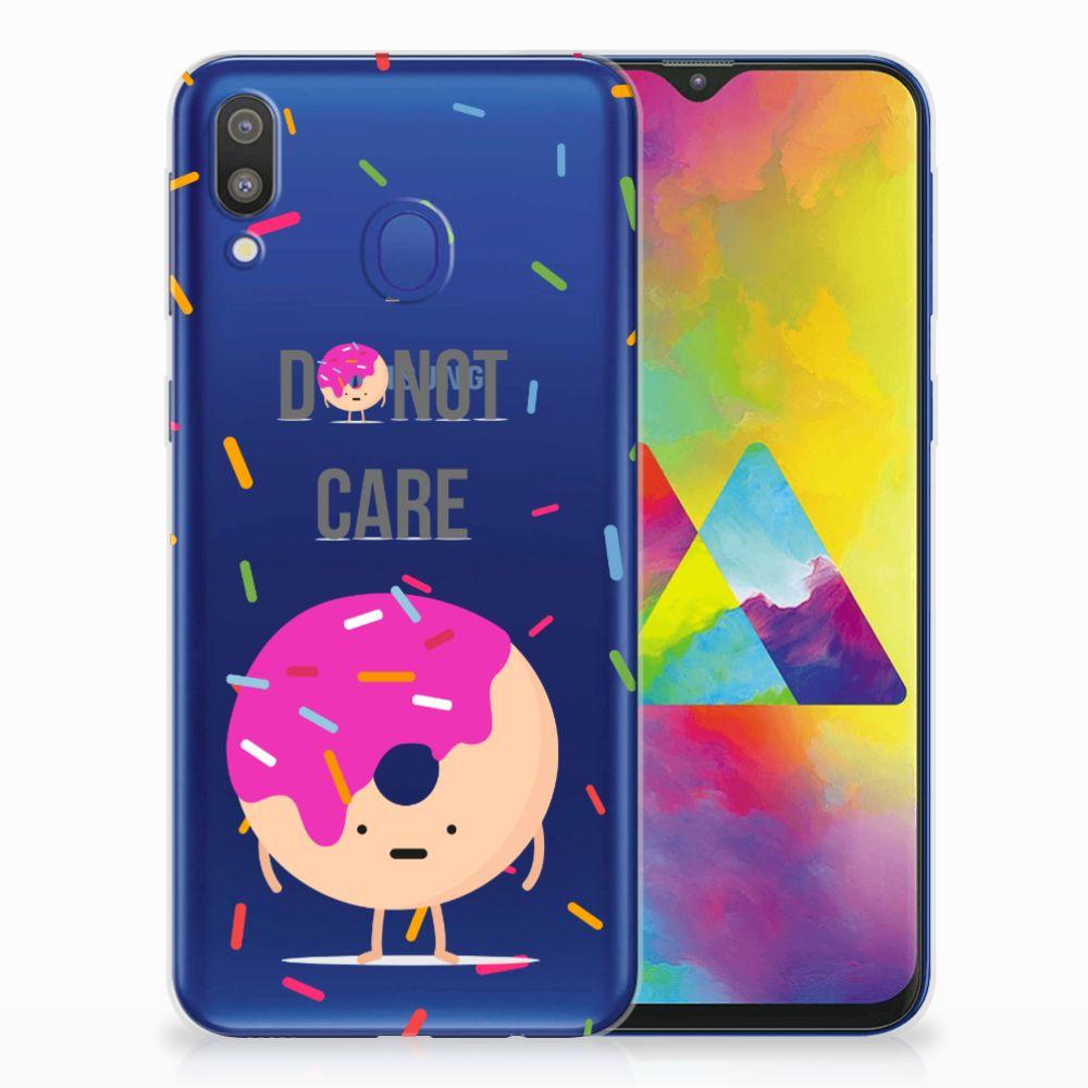 Samsung Galaxy M20 (Power) Siliconen Case Donut Roze