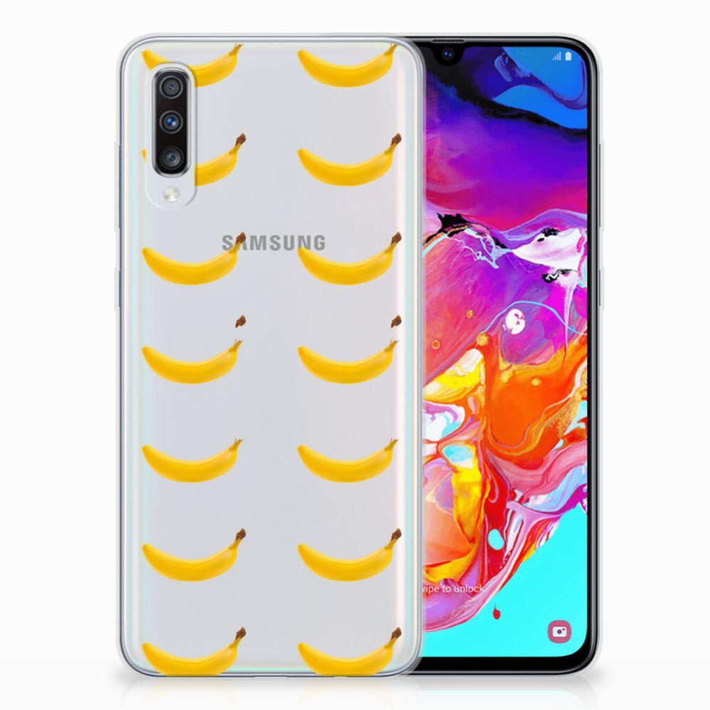 Samsung Galaxy A70 Siliconen Case Banana