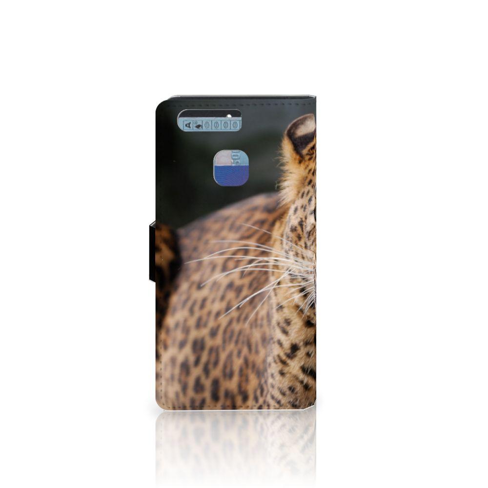 Huawei P9 Telefoonhoesje met Pasjes Luipaard
