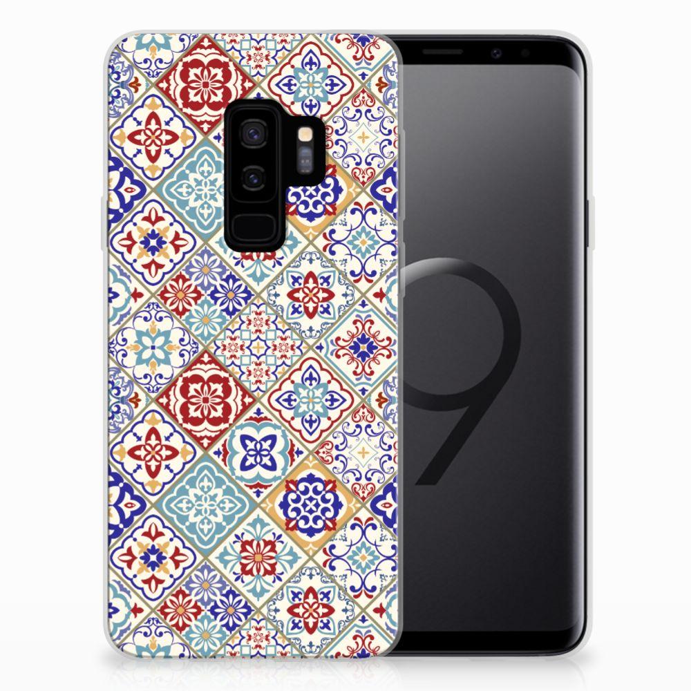 Samsung Galaxy S9 Plus TPU Siliconen Hoesje Tiles Color