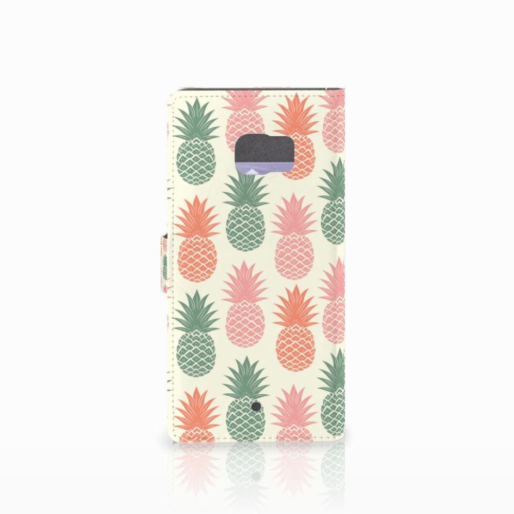 HTC U Ultra Book Cover Ananas