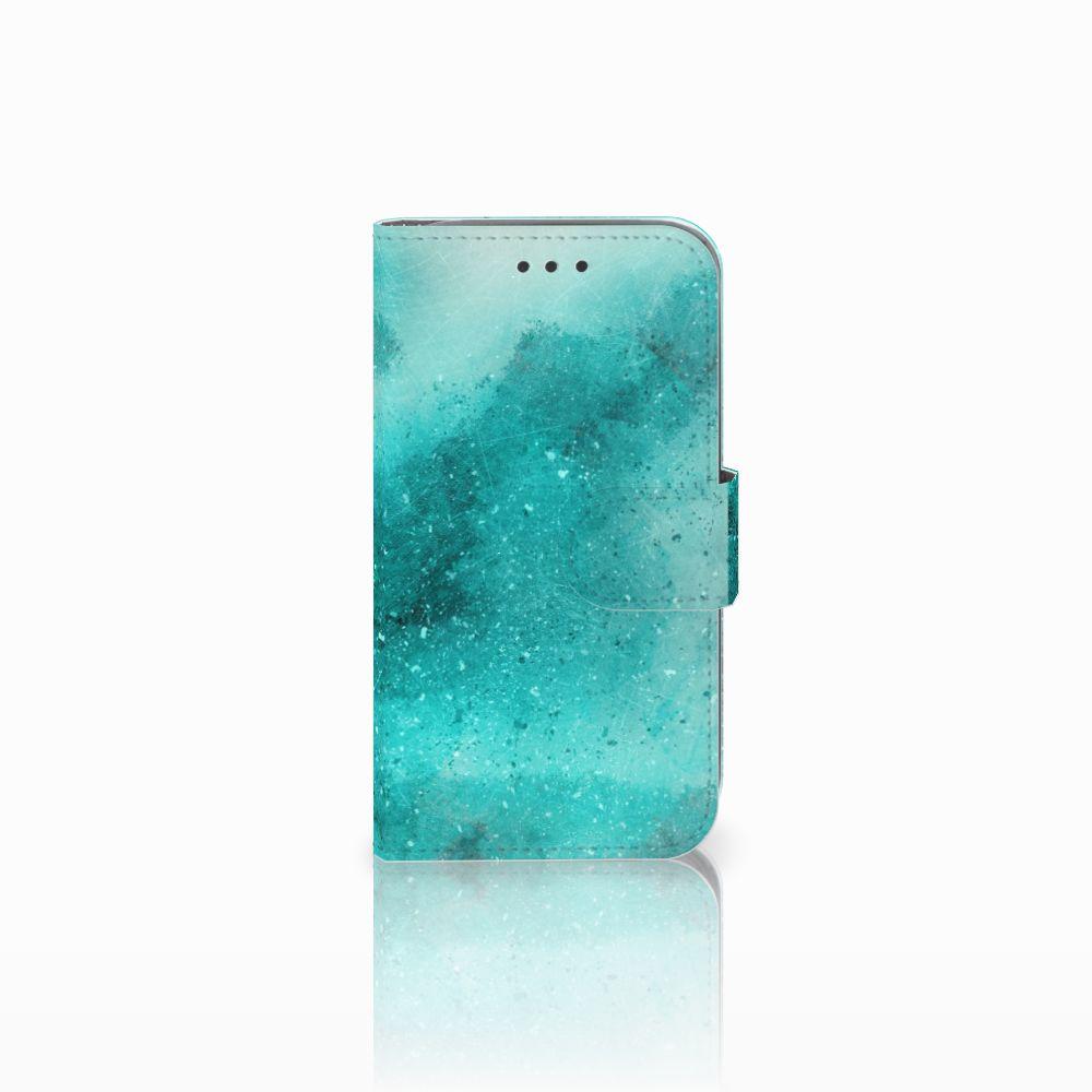 Samsung Galaxy Core Prime Uniek Boekhoesje Painting Blue