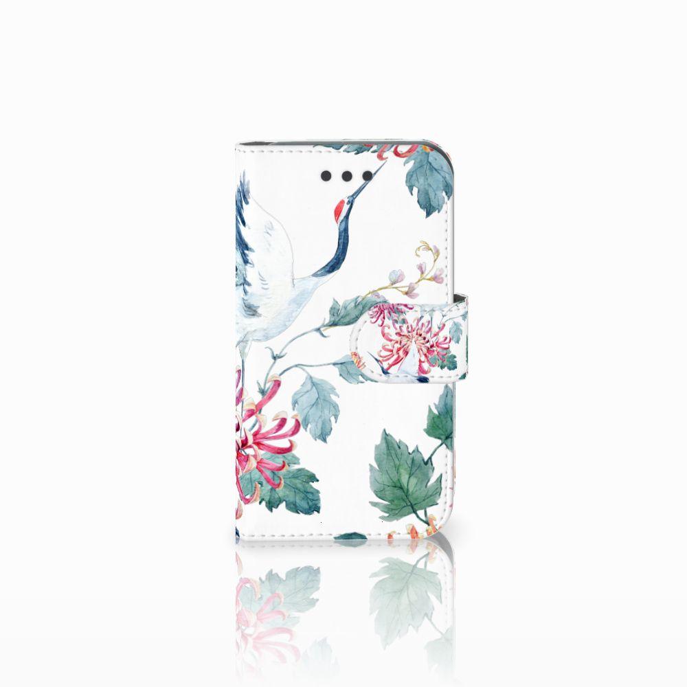 Samsung Galaxy Core 2 Uniek Boekhoesje Bird Flowers