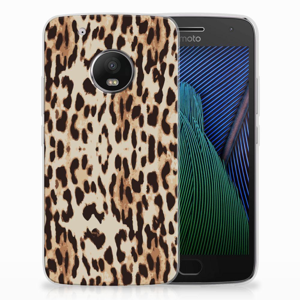 Motorola Moto G5 Plus Uniek TPU Hoesje Leopard