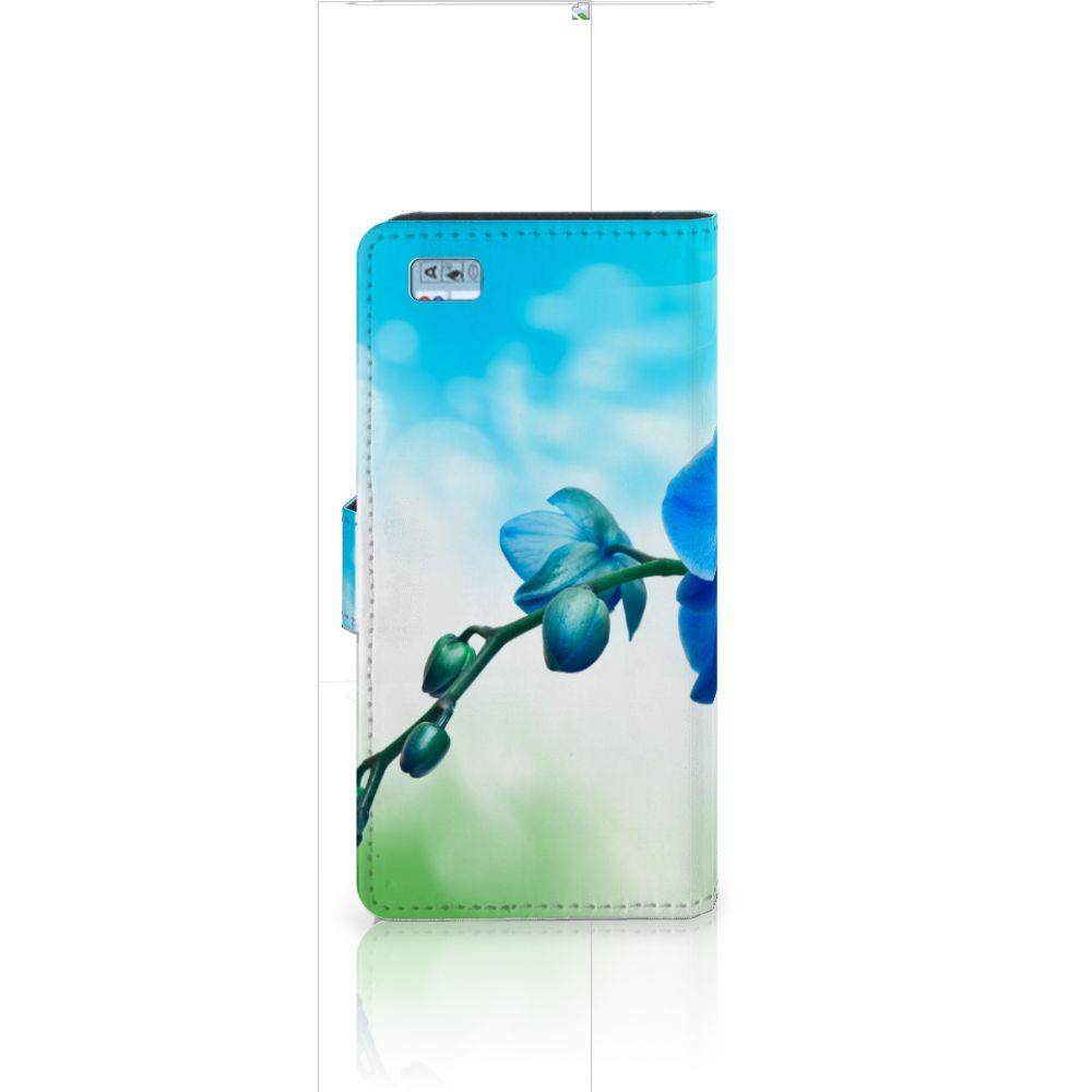 Huawei Ascend P8 Lite Hoesje Orchidee Blauw