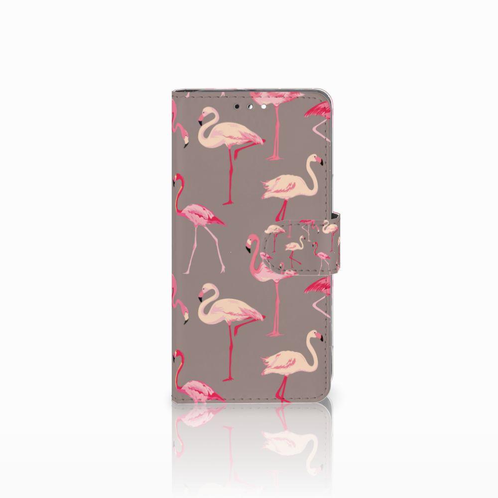 Honor 9 Uniek Boekhoesje Flamingo