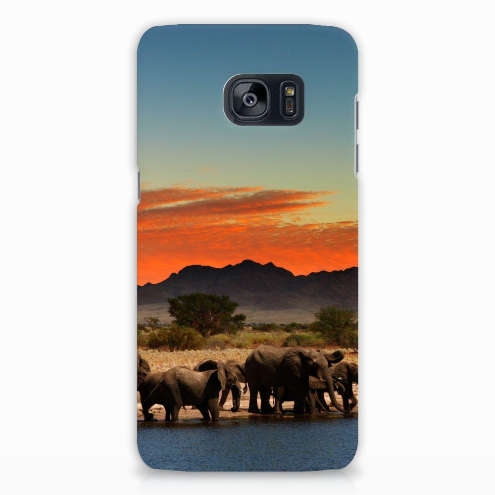 Samsung Galaxy S7 Edge Hardcase Hoesje Design Olifanten