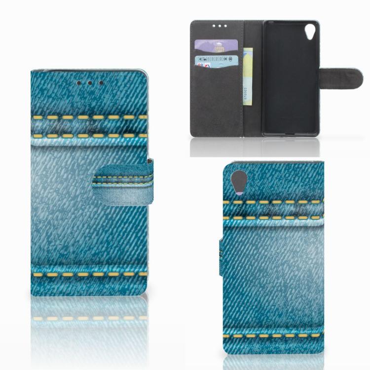 Sony Xperia X Wallet Case met Pasjes Jeans