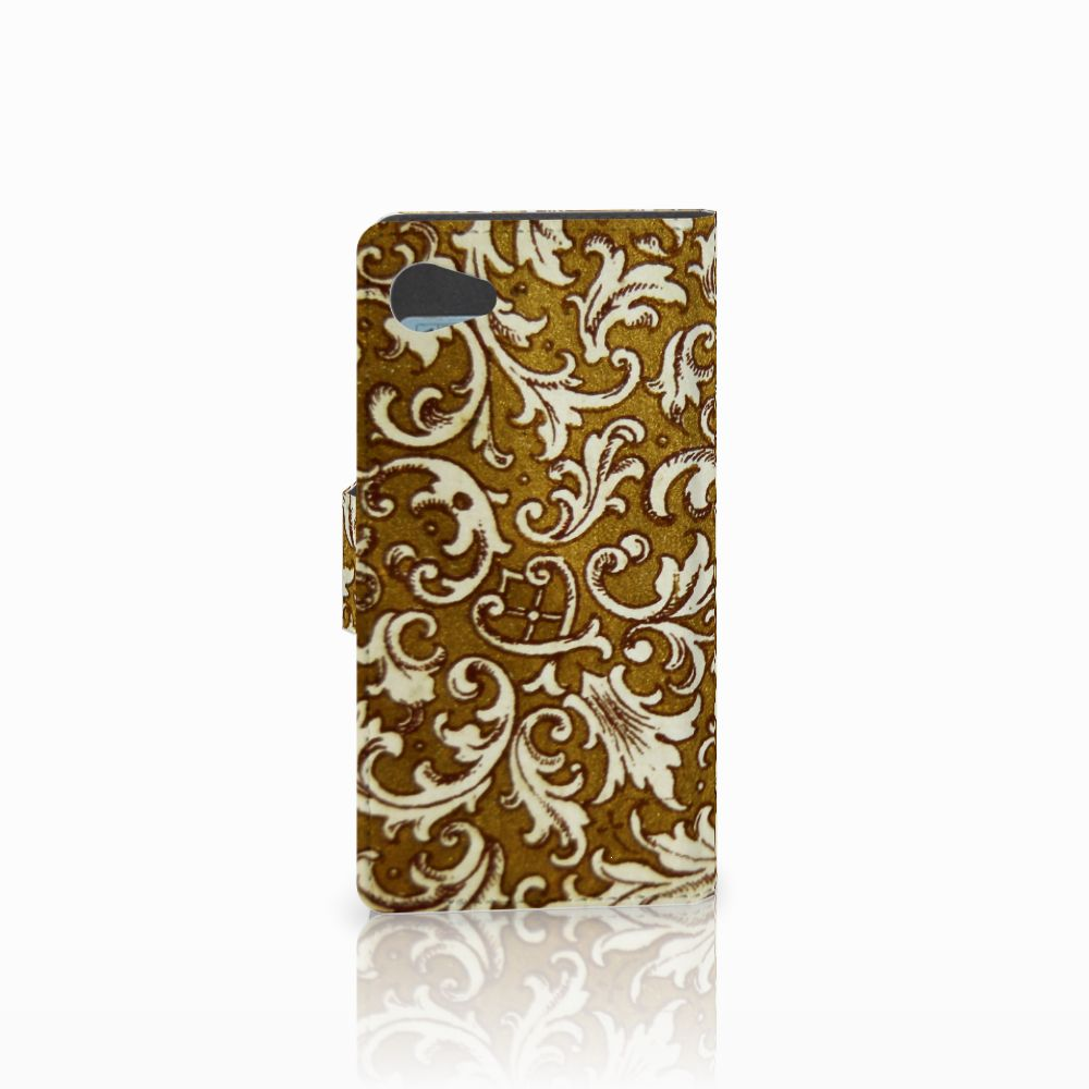 Wallet Case Sony Xperia Z5 Compact Barok Goud