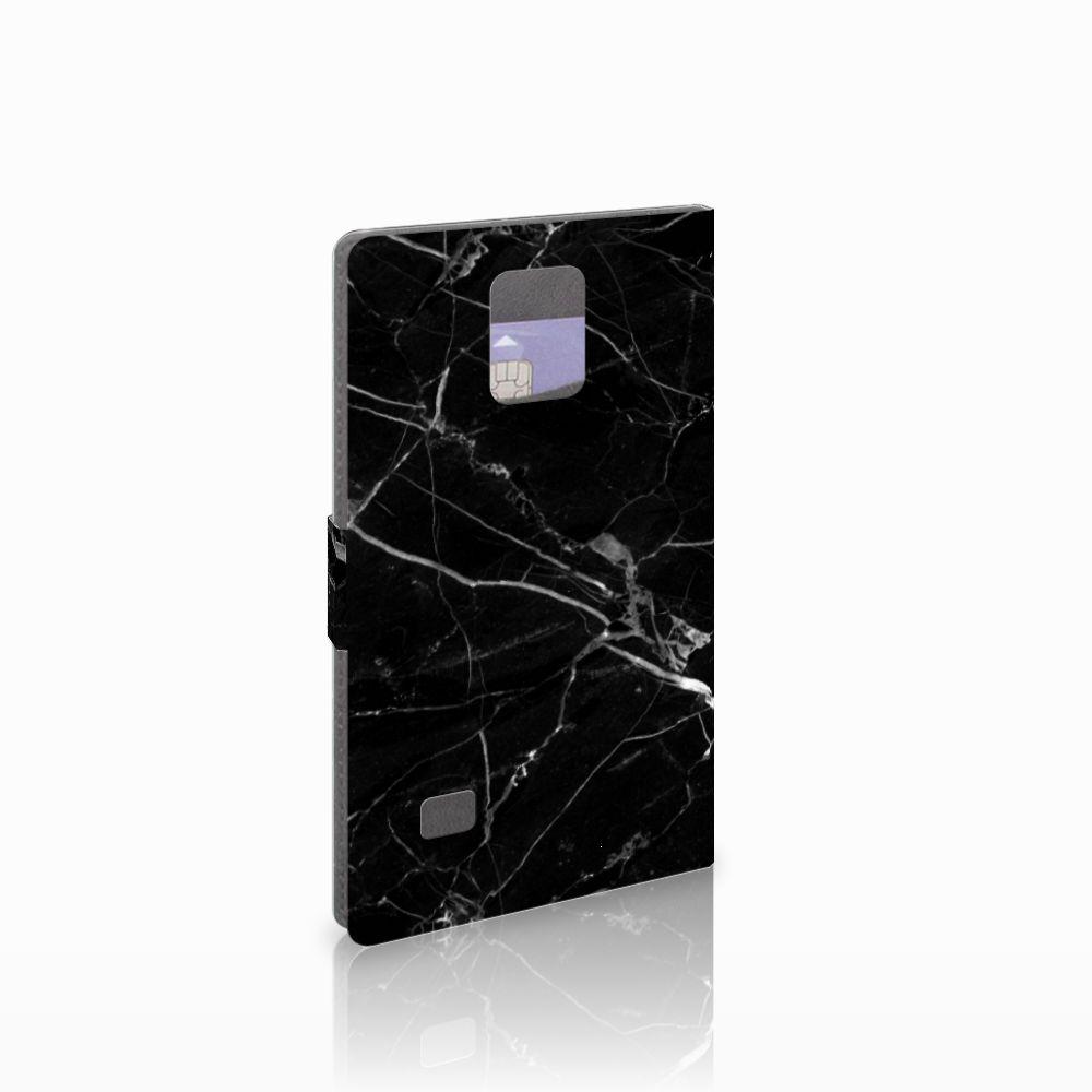Samsung Galaxy Note 4 Uniek Boekhoesje Marmer Zwart