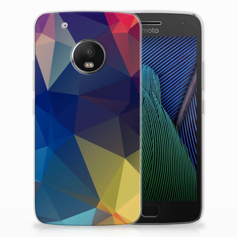 Motorola Moto G5 Plus TPU Hoesje Polygon Dark