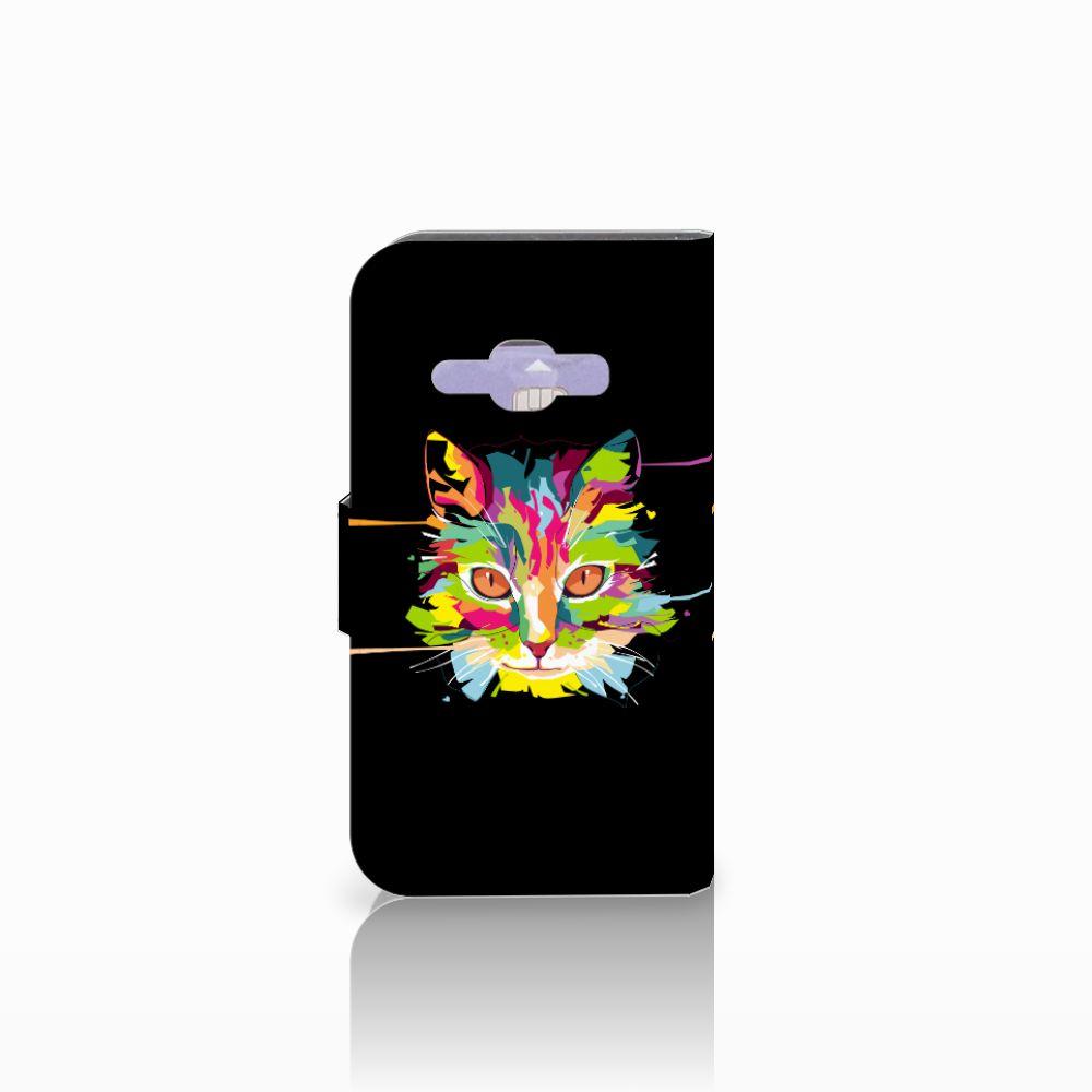 Samsung Galaxy J1 2016 Leuk Hoesje Cat Color