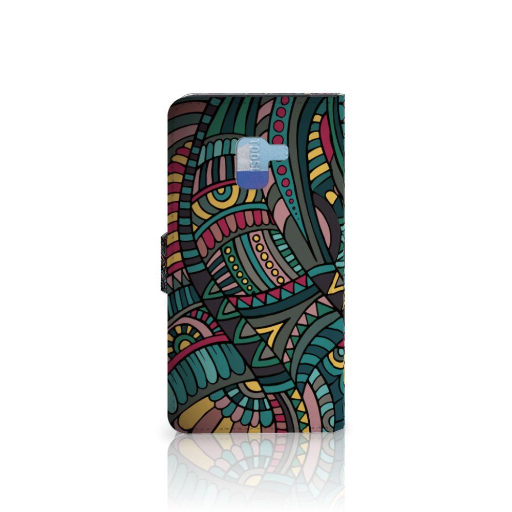 Samsung Galaxy A8 Plus (2018) Telefoon Hoesje Aztec