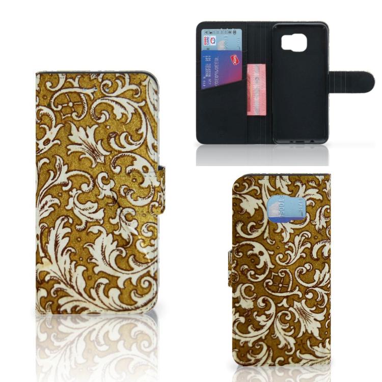 Wallet Case Samsung Galaxy S6   S6 Duos Barok Goud