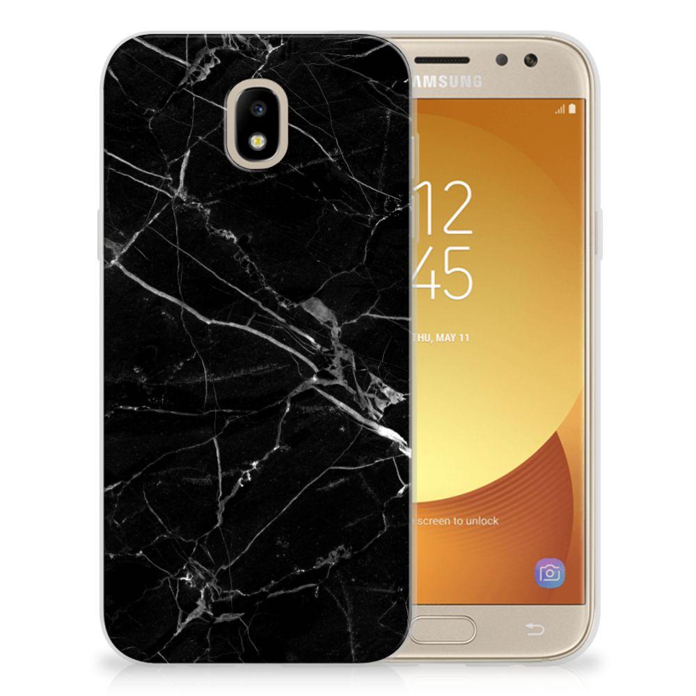 Samsung Galaxy J5 2017 TPU Siliconen Hoesje Marmer Zwart - Origineel Cadeau Vader