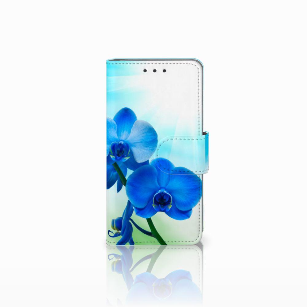 Samsung Galaxy A3 2015 Boekhoesje Design Orchidee Blauw