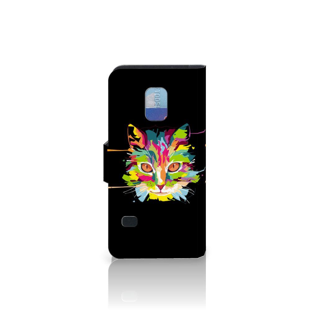 Samsung Galaxy S5 Mini Leuke Hoesje Cat Color