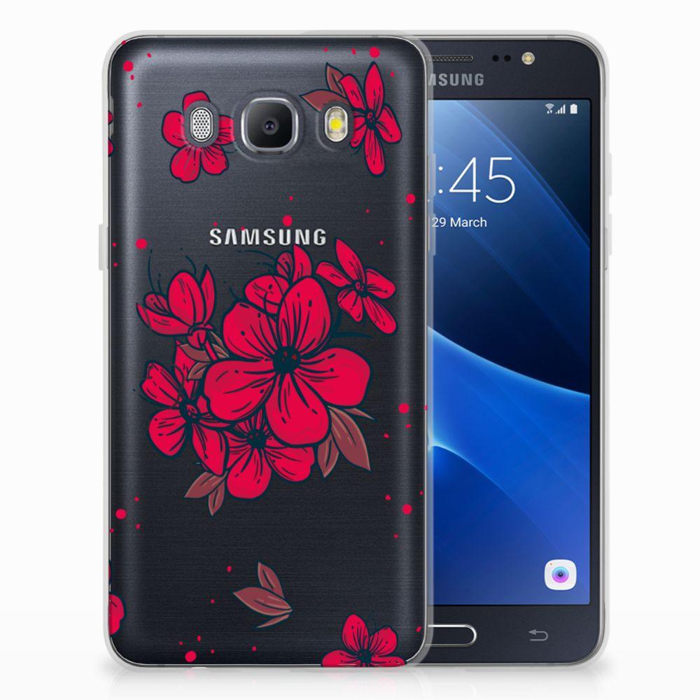 Samsung Galaxy J5 2016 TPU Hoesje Design Blossom Red