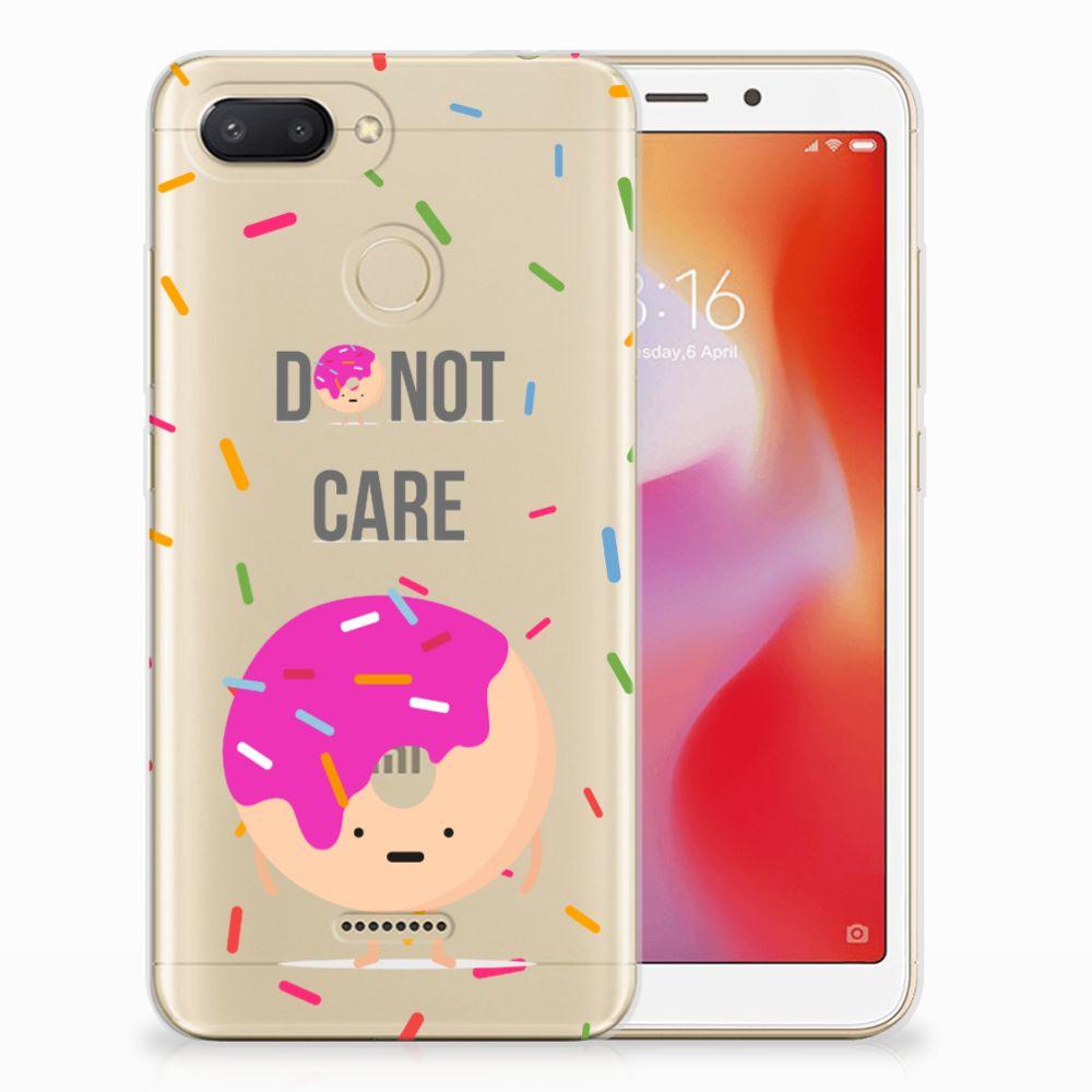 Xiaomi Redmi 6 Siliconen Case Donut Roze