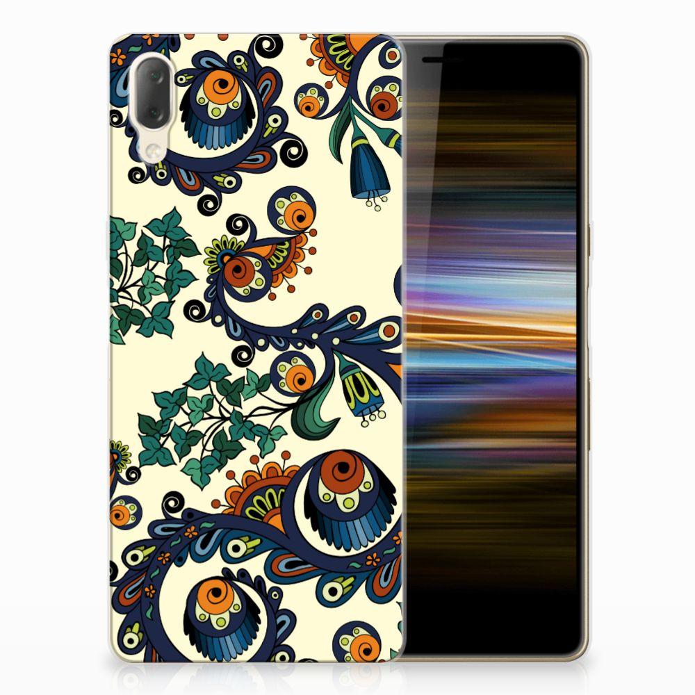 Siliconen Hoesje Sony Xperia L3 Barok Flower