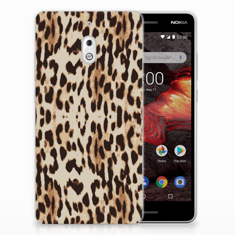 Nokia 2.1 (2018) TPU Hoesje Leopard