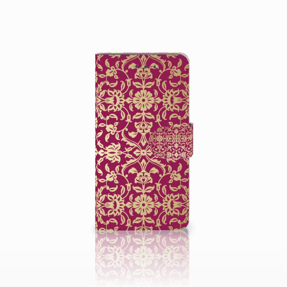 Wiko Fever (4G) Boekhoesje Design Barok Pink