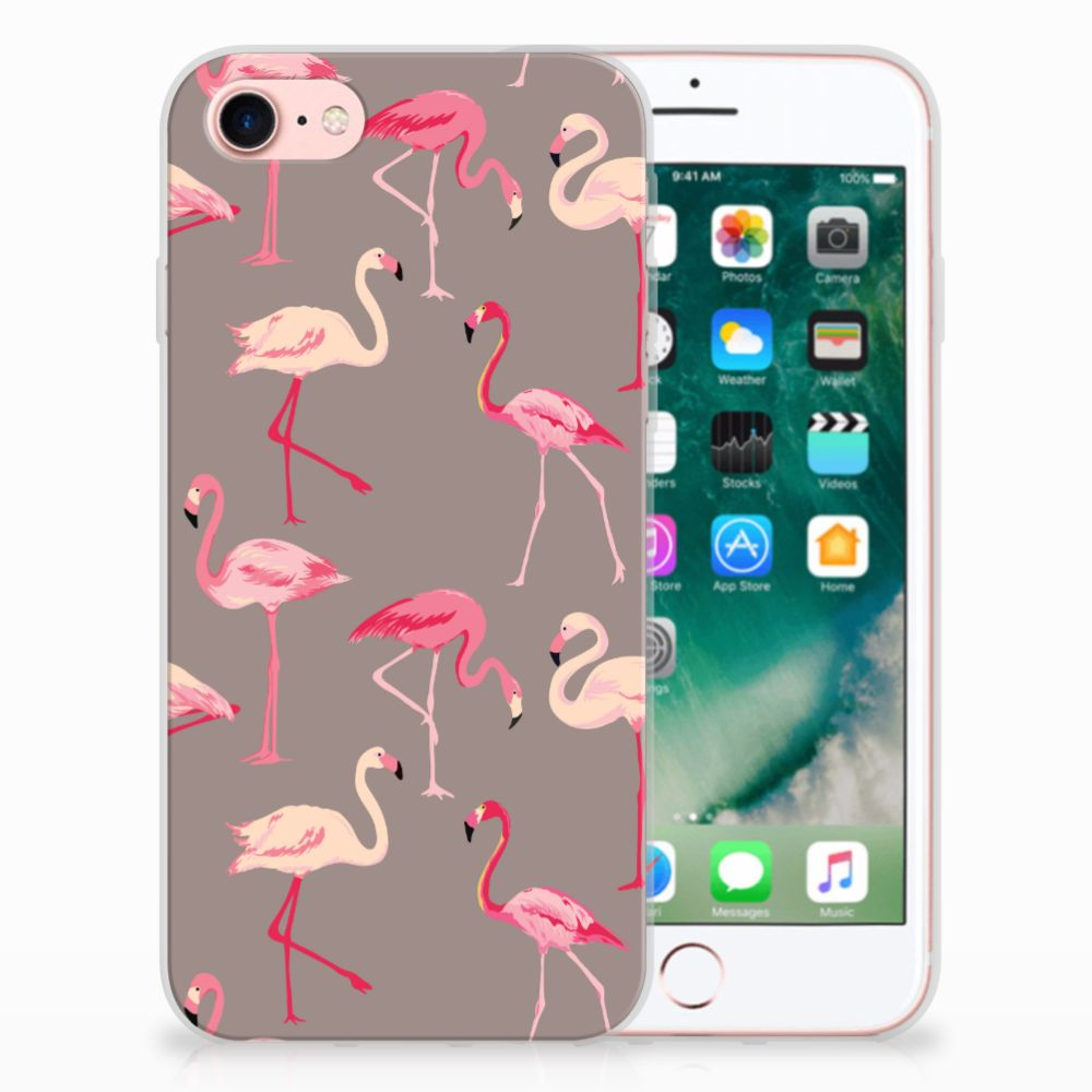 Apple iPhone 7 | 8 Leuk Hoesje Flamingo