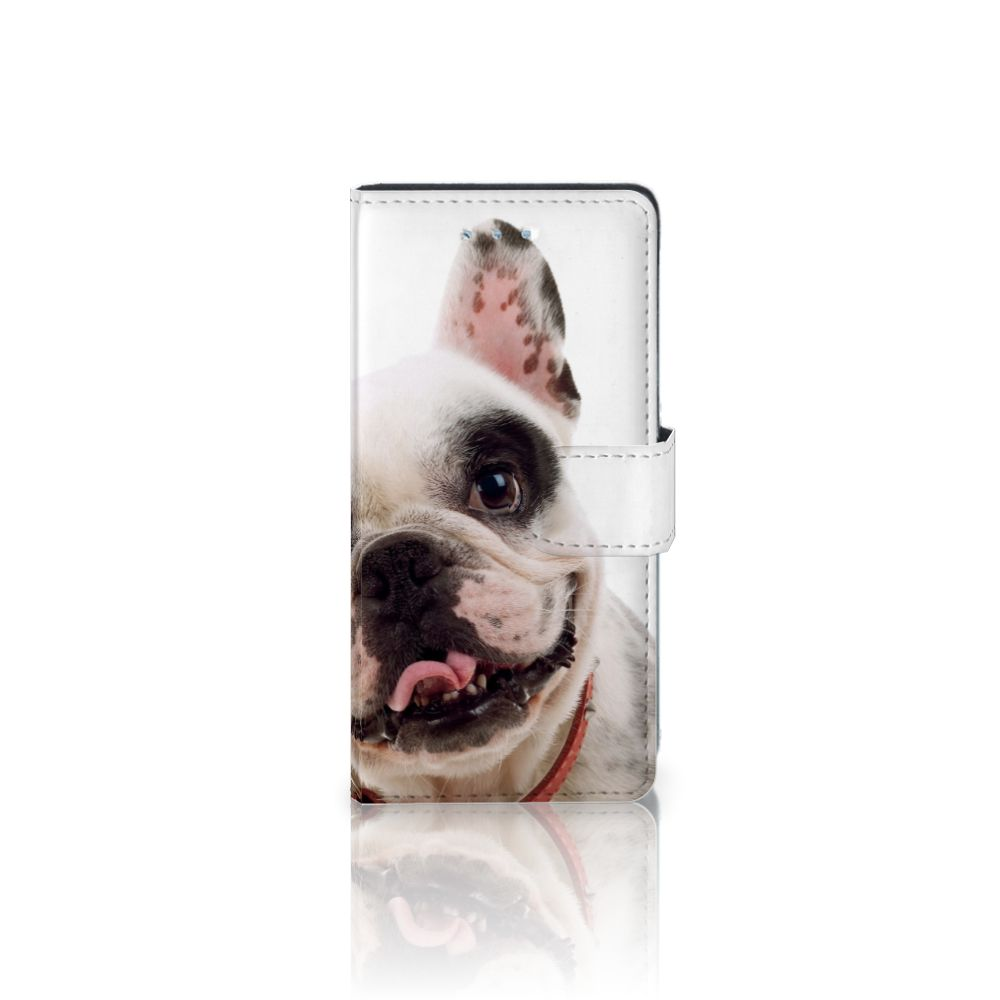 Huawei P9 Lite Telefoonhoesje met Pasjes Franse Bulldog