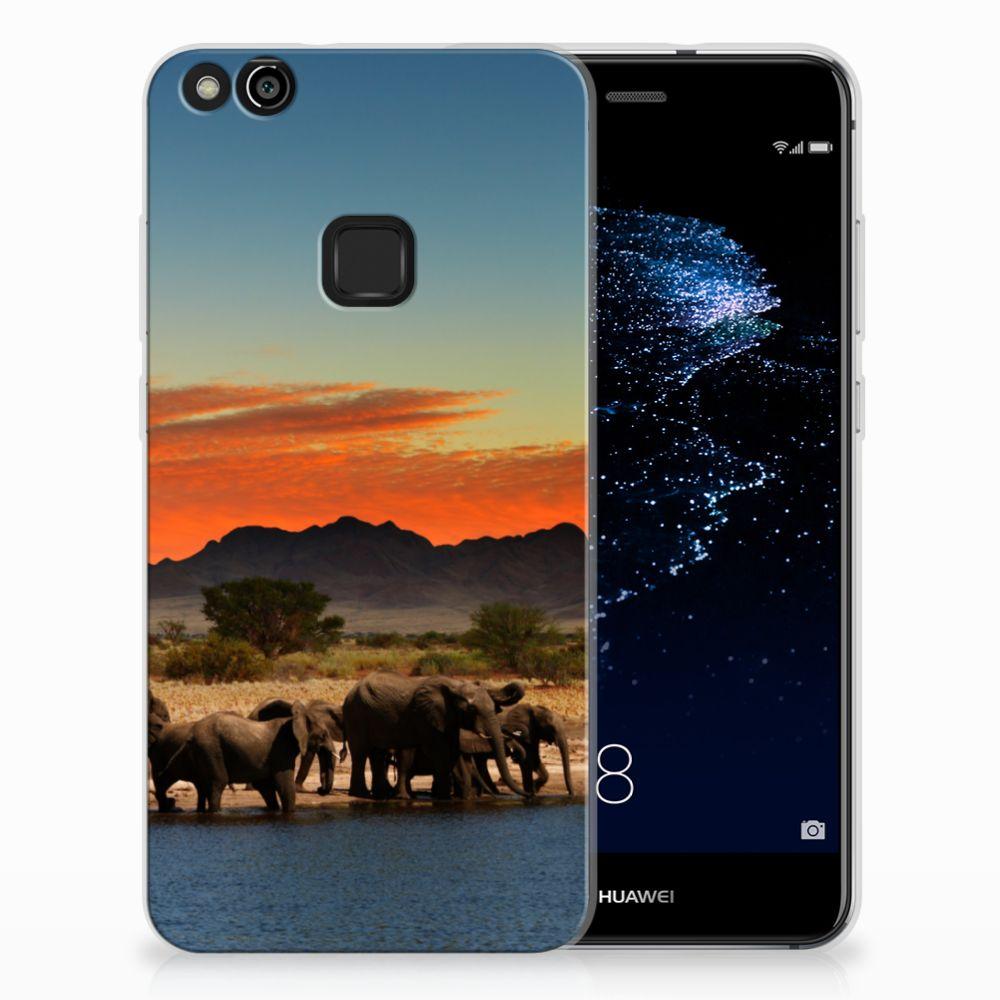 Huawei P10 Lite TPU Hoesje Design Olifanten