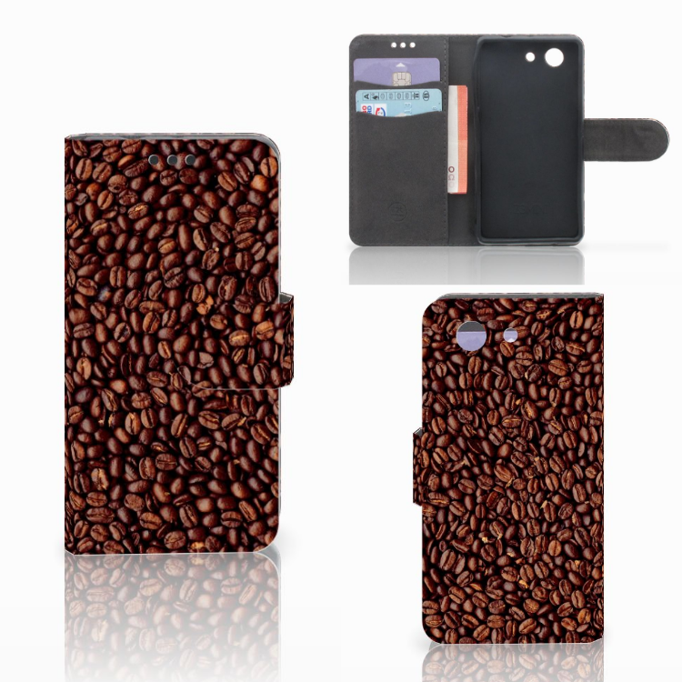 Sony Xperia Z3 Compact Book Cover Koffiebonen