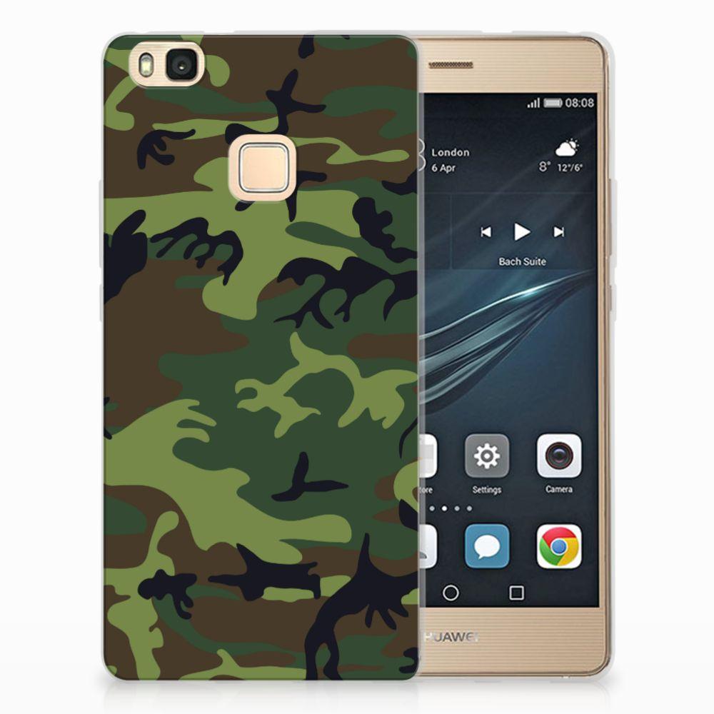 Huawei P9 Lite TPU Hoesje Design Army Dark