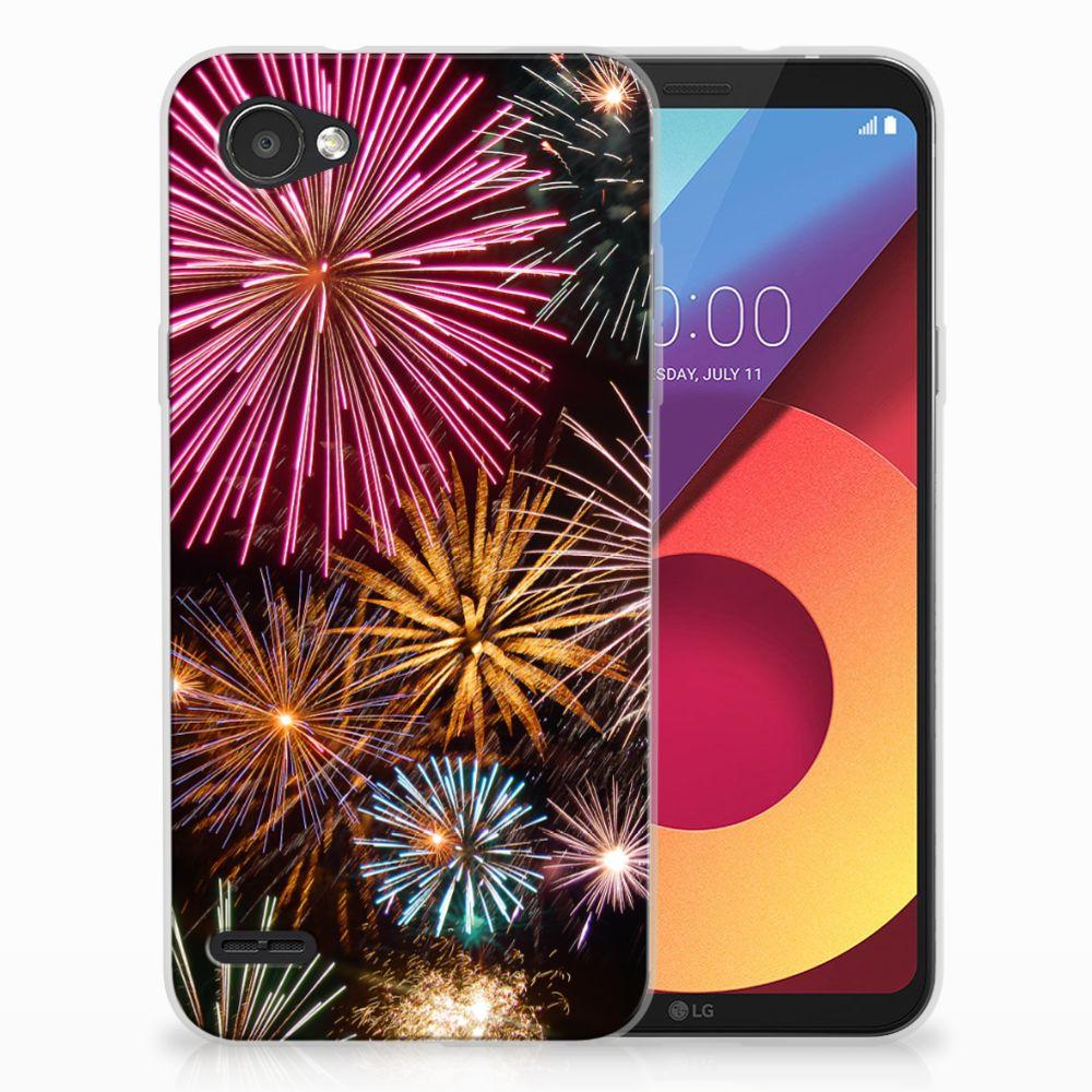 LG Q6   LG Q6 Plus TPU Hoesje Design Vuurwerk