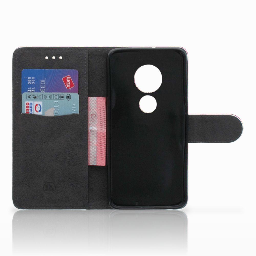 Wallet Case Motorola Moto G7 Play Barok Pink