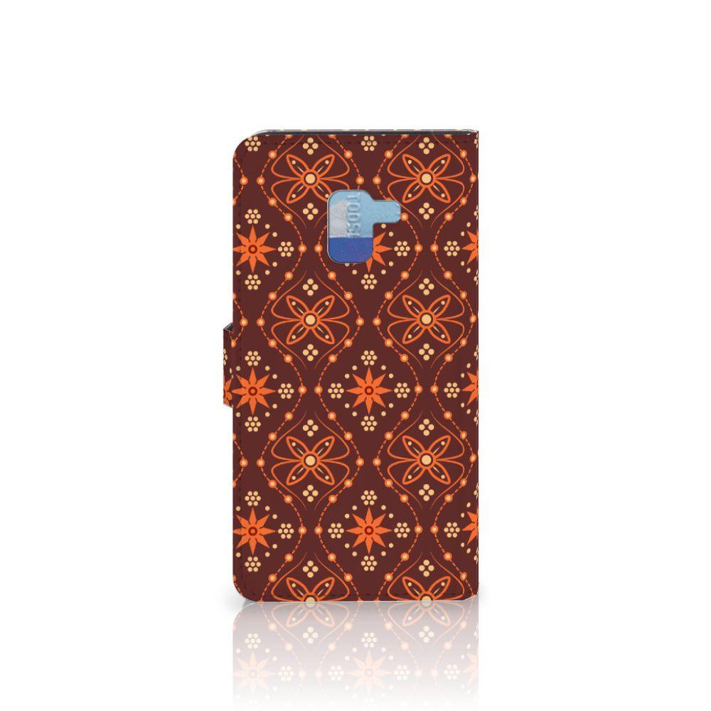 Samsung Galaxy A8 Plus (2018) Telefoon Hoesje Batik Brown