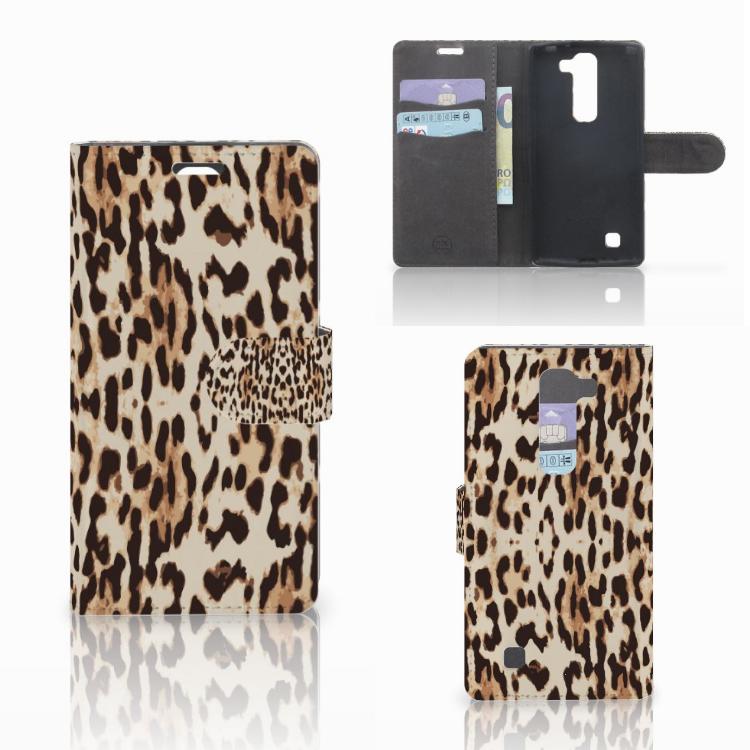 LG Magna | G4C Telefoonhoesje met Pasjes Leopard