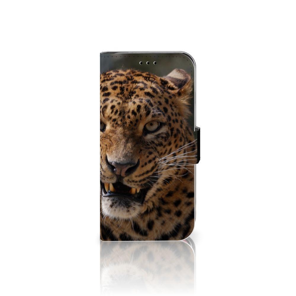 Apple iPhone X | Xs Telefoonhoesje met Pasjes Luipaard