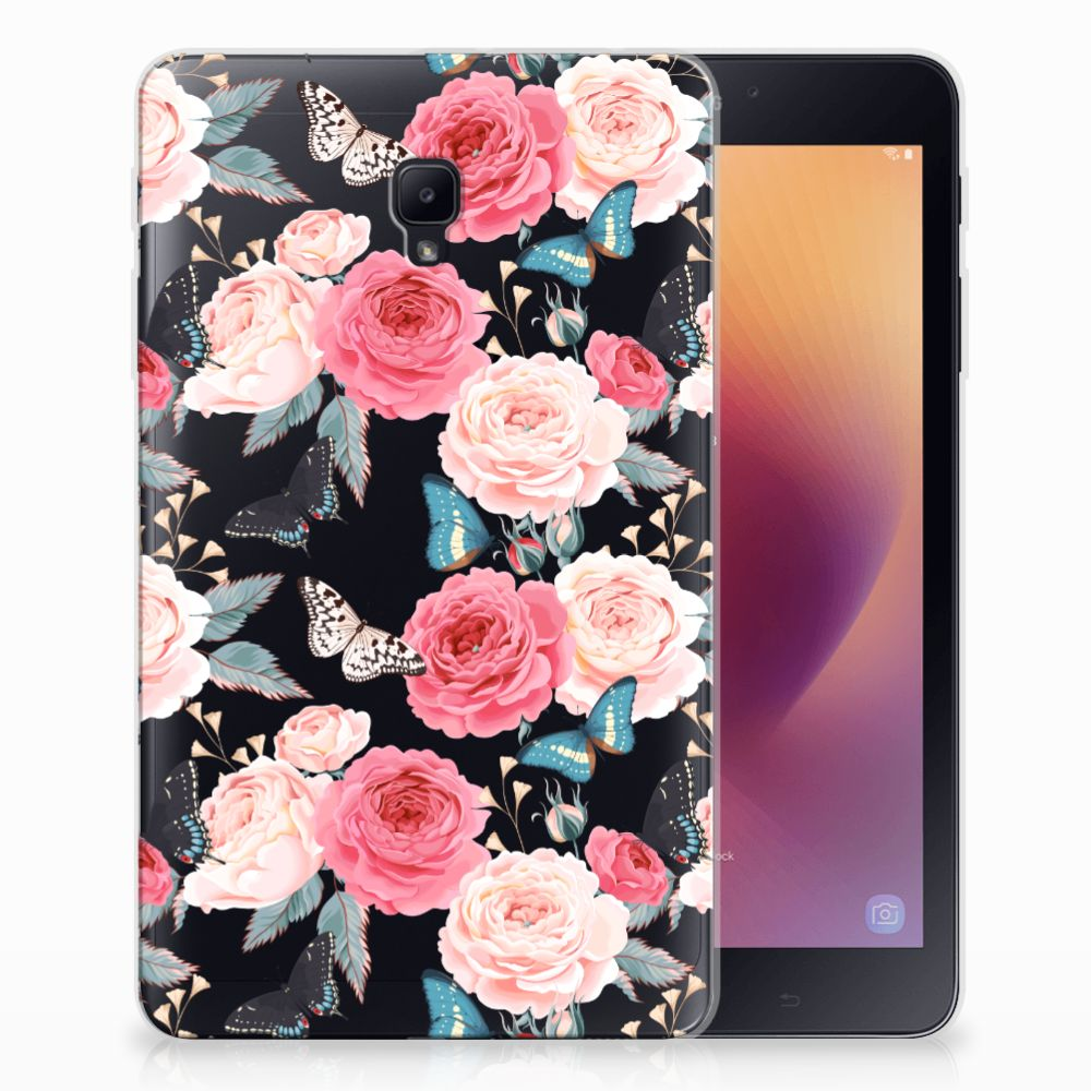 Samsung Galaxy Tab A 8.0 (2017) Uniek Tablethoesje Butterfly Roses