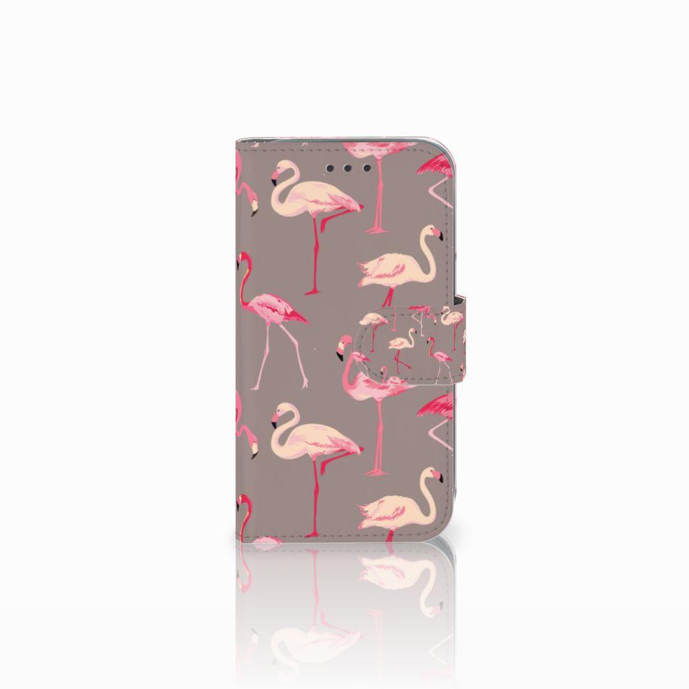 Samsung Galaxy Core Prime Uniek Boekhoesje Flamingo