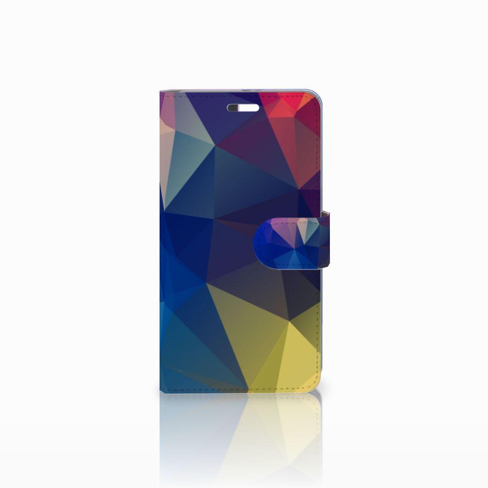 Huawei P9 Plus Uniek Boekhoesje Polygon Dark