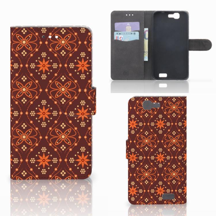 Huawei Ascend G7 Telefoon Hoesje Batik Brown