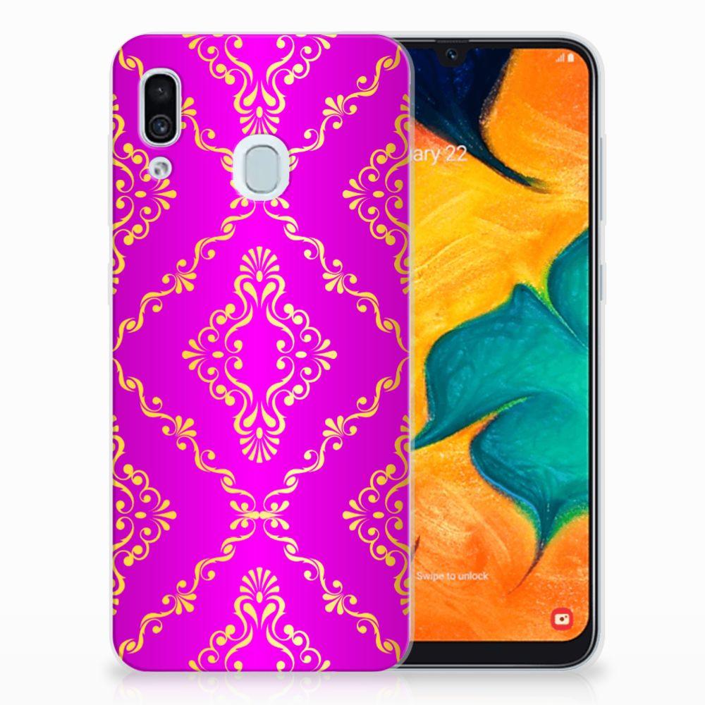 Siliconen Hoesje Samsung Galaxy A30 Barok Roze